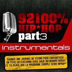 """92100% Hip-Hop """"Instrumentals"""" Part 3 cd"""