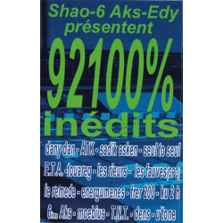 92100% Hip-Hop inédits Vol 2 K7 audio